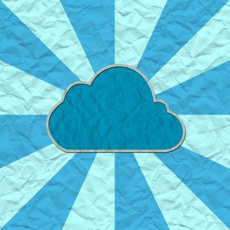 cloud paper craft