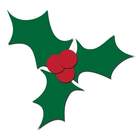 Christmas leaf background