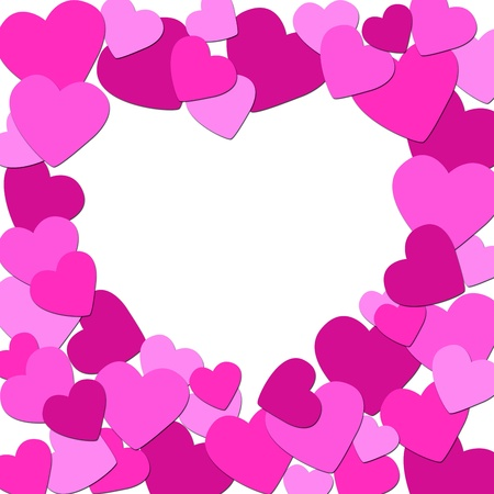 Valentines Day background with hearts Stock Photo - 12083270