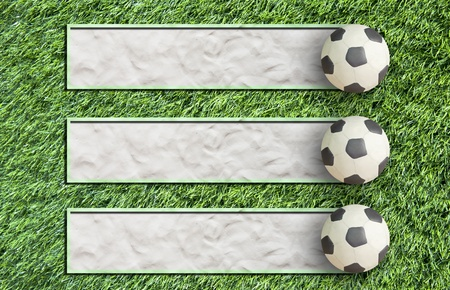 Plasticine Football on grass and  paper background Stock Photo - 12882906