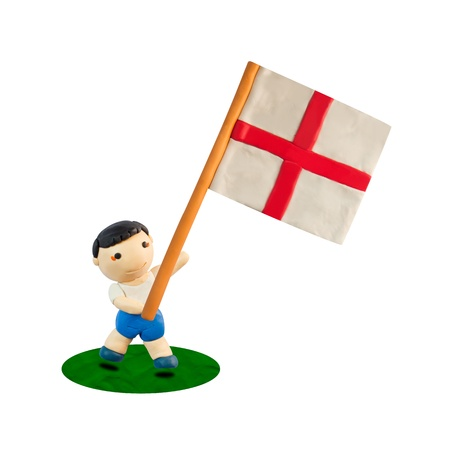 miniature figurine with the flag of England photo