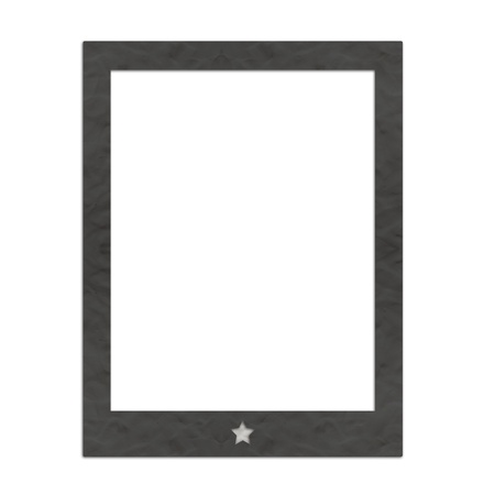 Plasticine Black tablet pc on white background photo