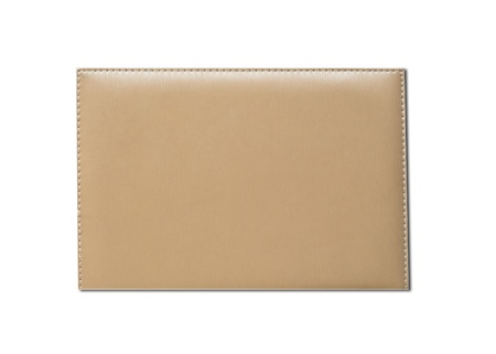 Leather note book on white background Stock Photo - 13054176