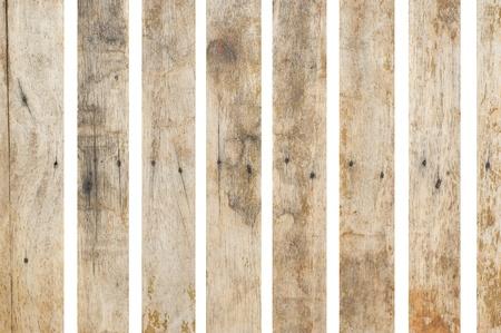 Old wood on white background photo