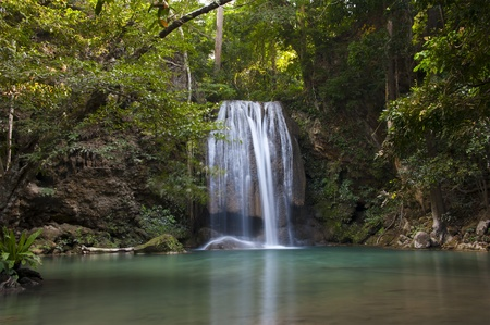 Waterfall from kanjanaburi province of thailand photo