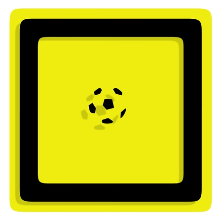 curvaceous: Traffic football in frame, illustration