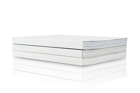 Blank Book on white background photo