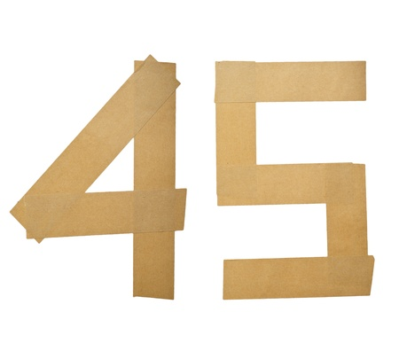 4 5: Alphabet Letters Number Sticker on white background (4 5)