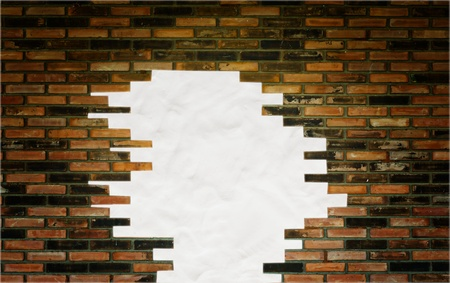 Old Brick Wall Background and texture, space plasticine for text photo