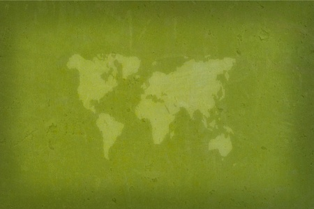 Abstract world map with Earth globes  Stock Photo
