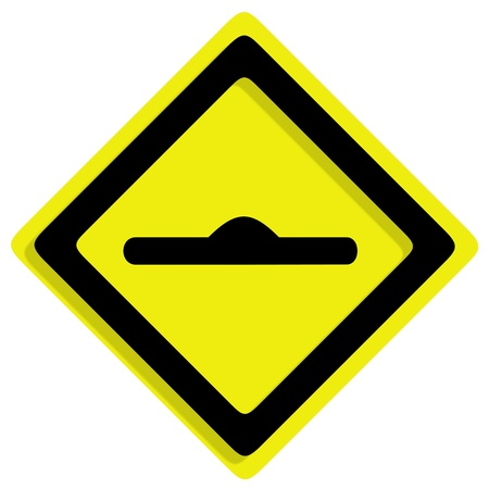 curvaceous: Traffic of frame on white background