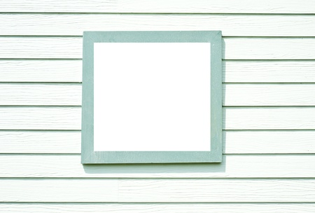 Green wood of wall with Green window frame  Stock Photo - 13726605