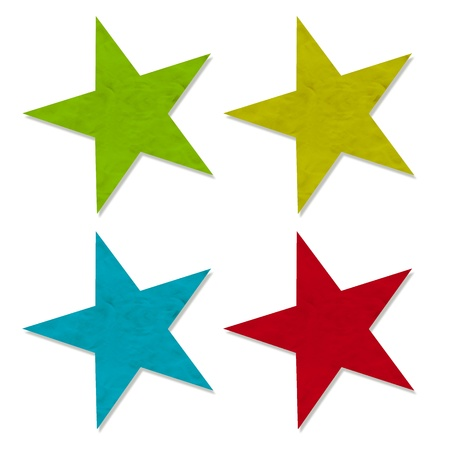 Plasticine Star on white background, isolated Stock Photo - 13726892