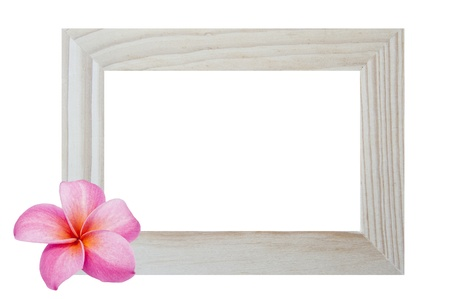 simple life: Window frame isolated on white background with flower
