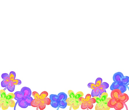 Color flowers in watercolor hand painted, isolated photo