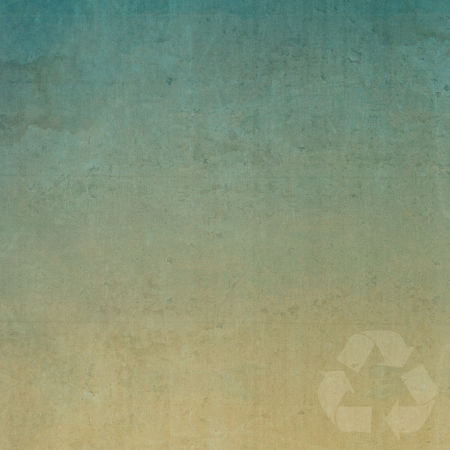 Recycle on old paper texture and background  Stock Photo - 13794174