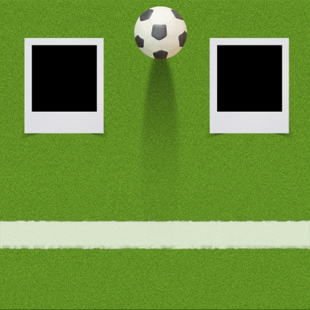 Plasticine Football with Stick on grass background  photo