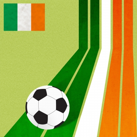 Plasticine flag football soccer on colorful line background  photo