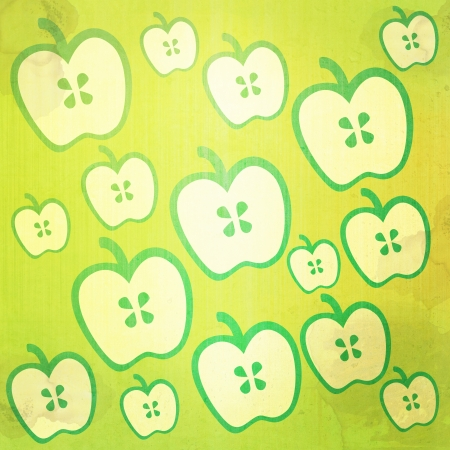 Grunge apple abstract vintage background and pattern photo