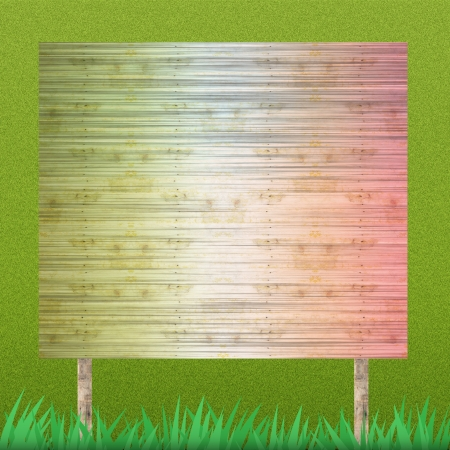 Billboard on grass background and texture Stock Photo - 14055989