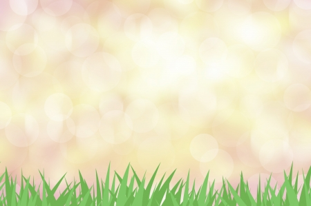 Green grass with color abstract background photo