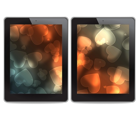 Tablet computers on white background photo