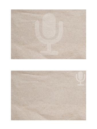 Microphone icon on paper textured and background  Stock Photo