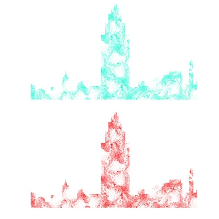 Finger print of city icon on white background