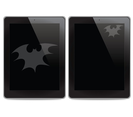Bat icon on tablet computer background Stock Photo - 15133102