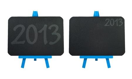 2013 icon on blank blackboard background photo