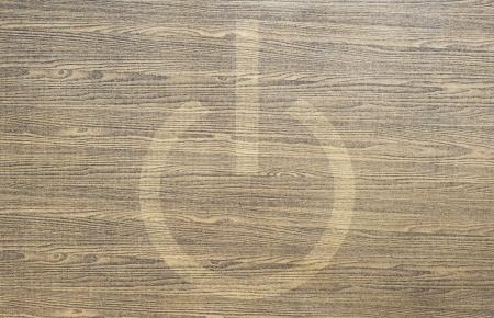shutdown: Shutdown icon on wood texture and background