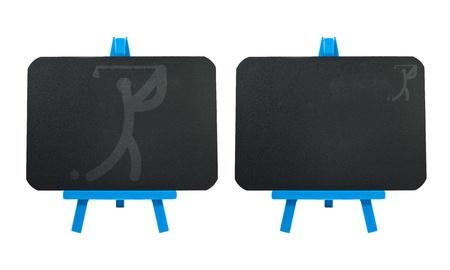 Sport golf icon on blank blackboard background  Stock Photo - 16033512