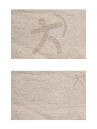 Sport archer icon on old paper texture and background  photo