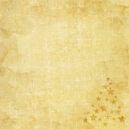 Christmas tree icon on old paper background and pattern photo