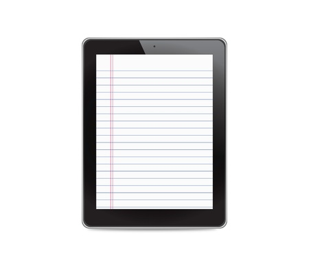 Tablet computer on white background photo