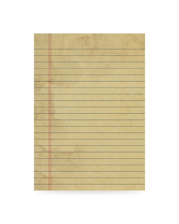 Blank old paper on white background Stock Photo - 16434174