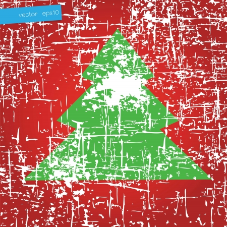 Christmas tree vector Vector