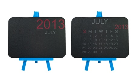 2013 Calendar on blackboard background Stock Photo - 16766438