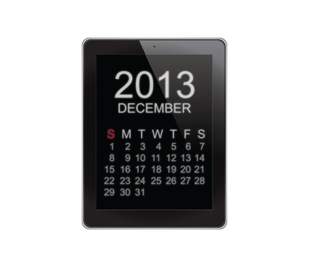 2013 Calendar Tablet on white photo