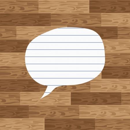 komentář: Paper komentář na dřevo