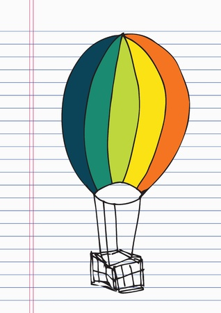 Drawing balloon on paper Stock Vector - 17100757