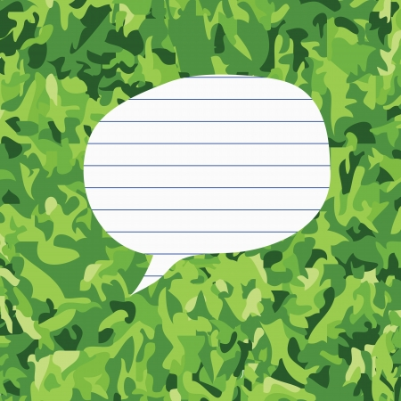 Paper on green grass background Stock Vector - 17195638