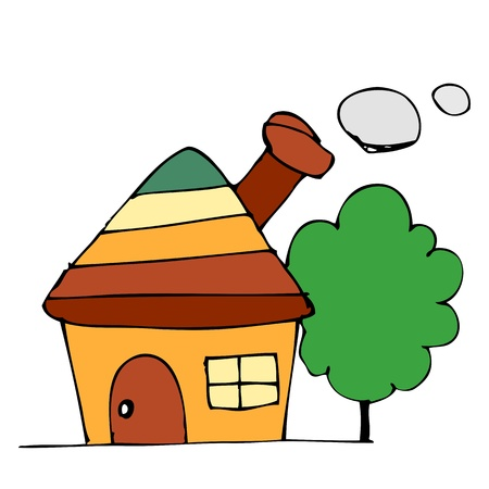 Drawing houses Stock Vector - 17195634