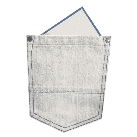 Blank paper in the jeans pocket Vector