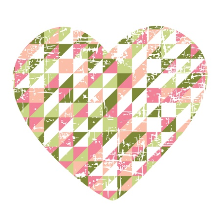 Heart of paper Valentines day  Vector