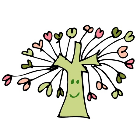 Drawing tree of heart Stock Vector - 17195633