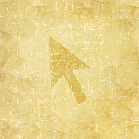 Arrow icon on old paper background Stock Photo - 17195720