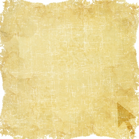 Arrow icon on old paper background Stock Photo - 17195725