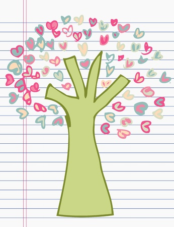 Drawing tree of heart Stock Vector - 17195736