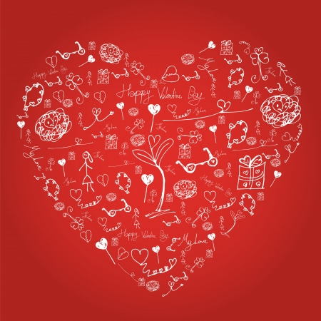 Drawing heart Stock Vector - 17195741